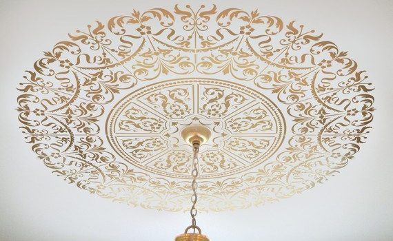 statement-ceiling-medallion-stencil