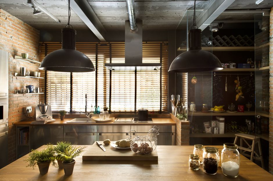 Attirant Industrial Style Kitchens
