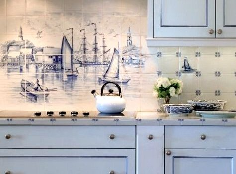 Set sail with a nautical style kitchen
