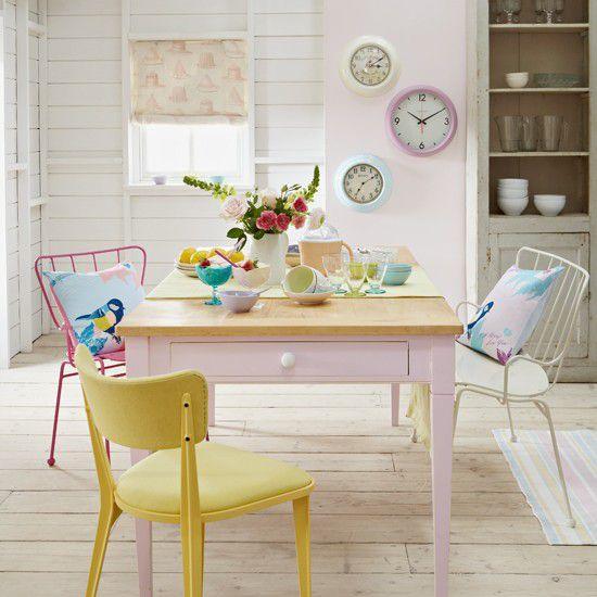 Summer kitchen pastels