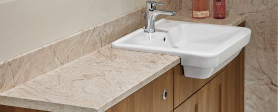Nuance bathroom worktops