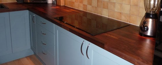 Walnut kitchen worktops