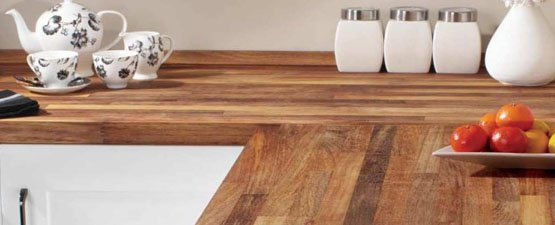 Warm wooden worktop