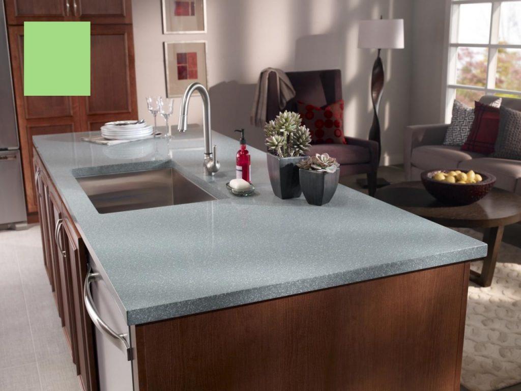 Corian Serpentine Green Solid Surface Worktop