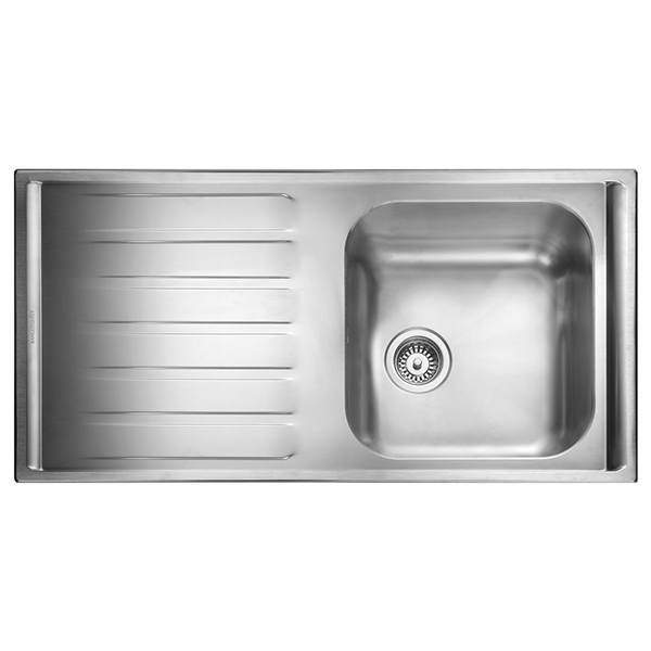 Rangemaster Manhattan 1.0 Bowl Stainless Steel Kitchen Sink - Left Handed