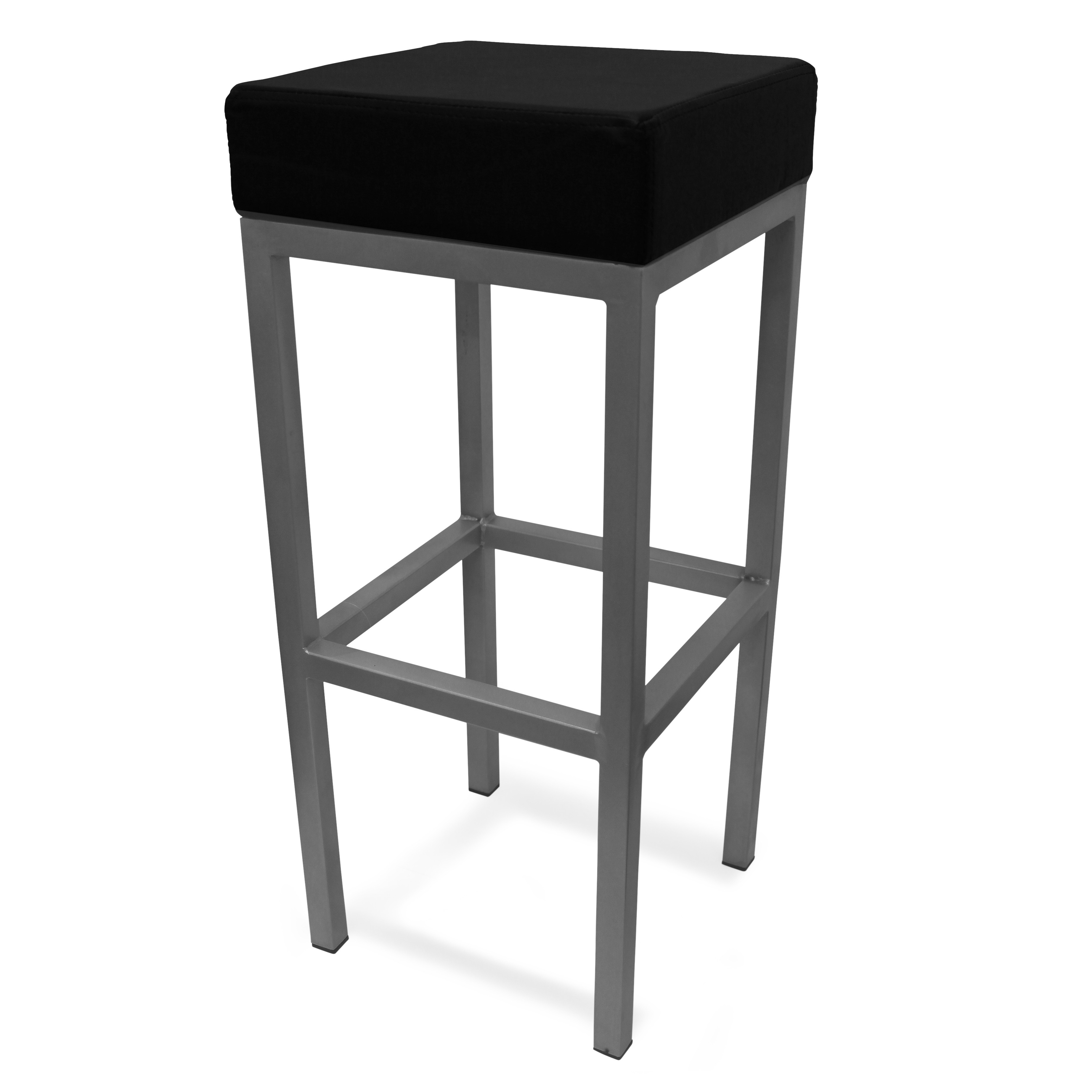 Cube bar stool black loading image