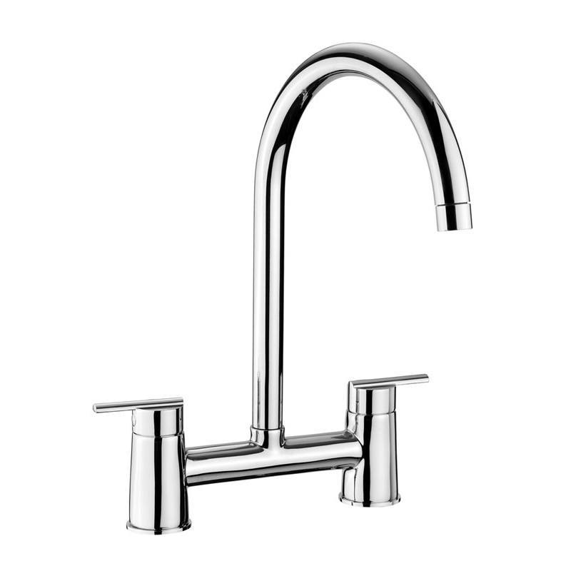Rangemaster Modern Belfast Bridge Mixer Chrome Tap