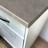 Axiom Brushed Concrete Matt 665mm Breakfast Bar