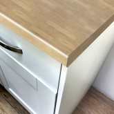 Axiom Newcastle Oak Lumber 665mm Breakfast Bar