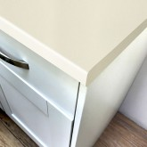 Axiom Paloma White Gloss 665mm Breakfast Bar