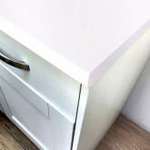 Axiom Platinum White 665mm Breakfast Bar