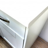 Axiom White Matt 665mm Breakfast Bar
