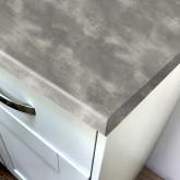 Duropal Oxyd Grey Rustica 670mm Breakfast Bar