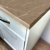 Beige Pietra Marble Super Matt Laminate Worktop - Pro-Top - 600mm