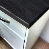Carbon Marine Wood Super Matt Laminate Worktop - Pro-Top - 600mm