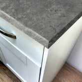 Concrete Grey Rough Stone Laminate Breakfast Bar - Pro-Top - 900mm