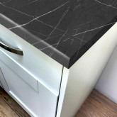 Pro-Top Grey Pietra marble Super Matt Laminate Worktop - 600mm