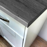 Grey Oak Super Matt Laminate Breakfast Bar - Pro-Top - 900mm