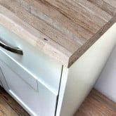 Linen Block Wood Super Matt Laminate Worktop - Pro-Top - 600mm