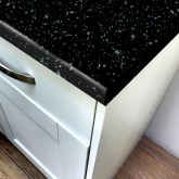 Astral Black Gloss Laminate Worktop - Pro-Top - 600mm