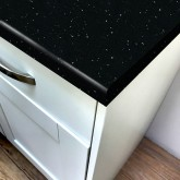 Black Quartz Gloss Laminate Breakfast Bar - Pro-Top - 900mm