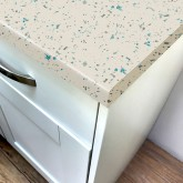 Stardust White Gloss Laminate Worktop - Pro-Top - 600mm