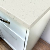 Stardust White Rough Stone Laminate Breakfast Bar - Pro-Top - 900mm