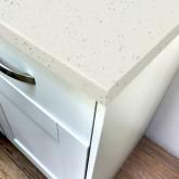 Stardust White Rough Stone Laminate Worktop - Pro-Top - 600mm