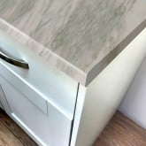White Marble Super Matt Laminate Breakfast Bar - Pro-Top - 900mm