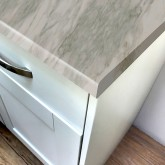 Carrara Marble Super Matt Laminate Breakfast Bar - Pro-Top - 900mm