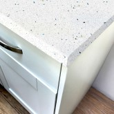 White Quartz Gloss Laminate Worktop - Pro-Top - 600mm
