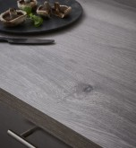 Square-Top Grey Longbarr Oak 600mm Worktop
