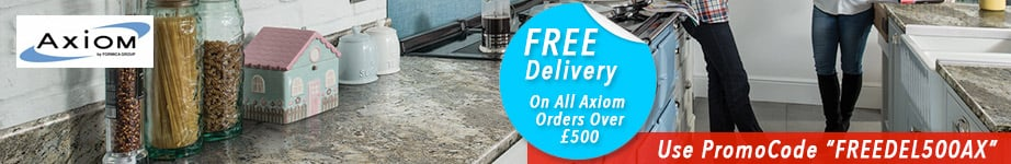 Free Delivery On All Axiom Worktops On Orders Over £500.00