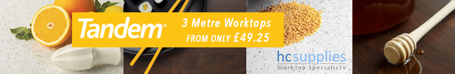 3 Metre Worktops From Only £49.25 at HC Supplies