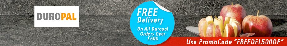 Free Delivery On All Duropal Worktops On Orders Over £500.00