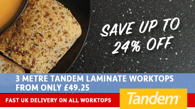 Tandem 3 Metre Worktops From Only £49.25 - HcSupplies