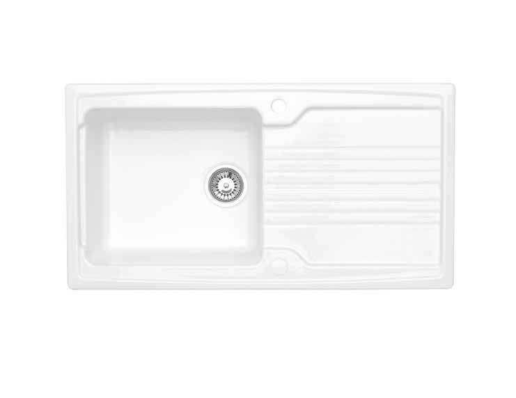 Astracast Equinox 1 Bowl Gloss White Ceramic… Product Image
