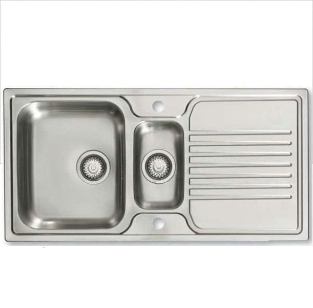 Bretton Park Glenelg 1.5 Bowl Stainless Steel Kitchen Sink
