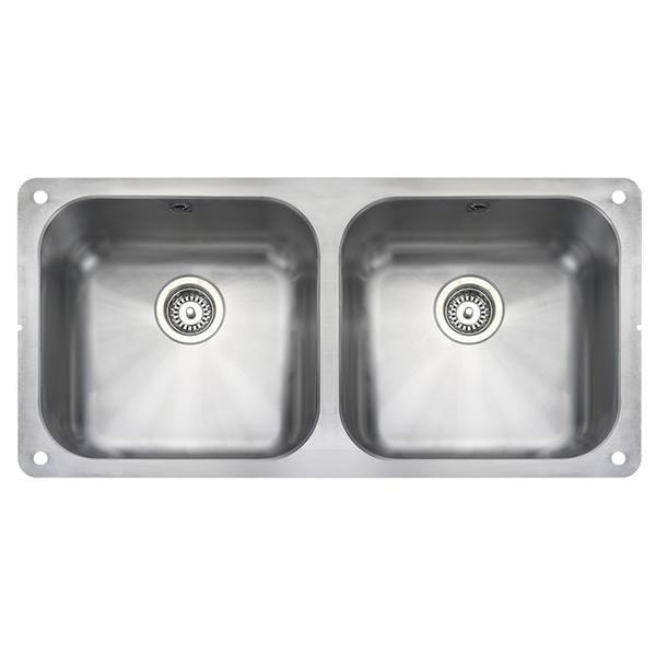 Rangemaster Atlantic Classic 2.0 Bowl Stainless Steel Undermount Sink UB4040
