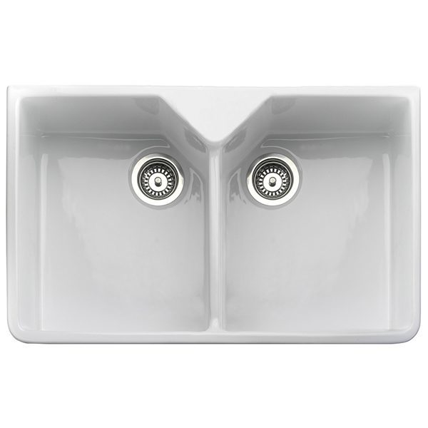Rangemaster Belfast 2.0 Bowl Ceramic Undermount Sink - White