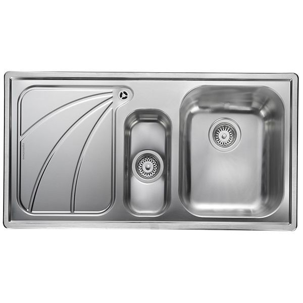 Rangemaster Chicago 1.5 Bowl Stainless Steel Sink - Left Handed