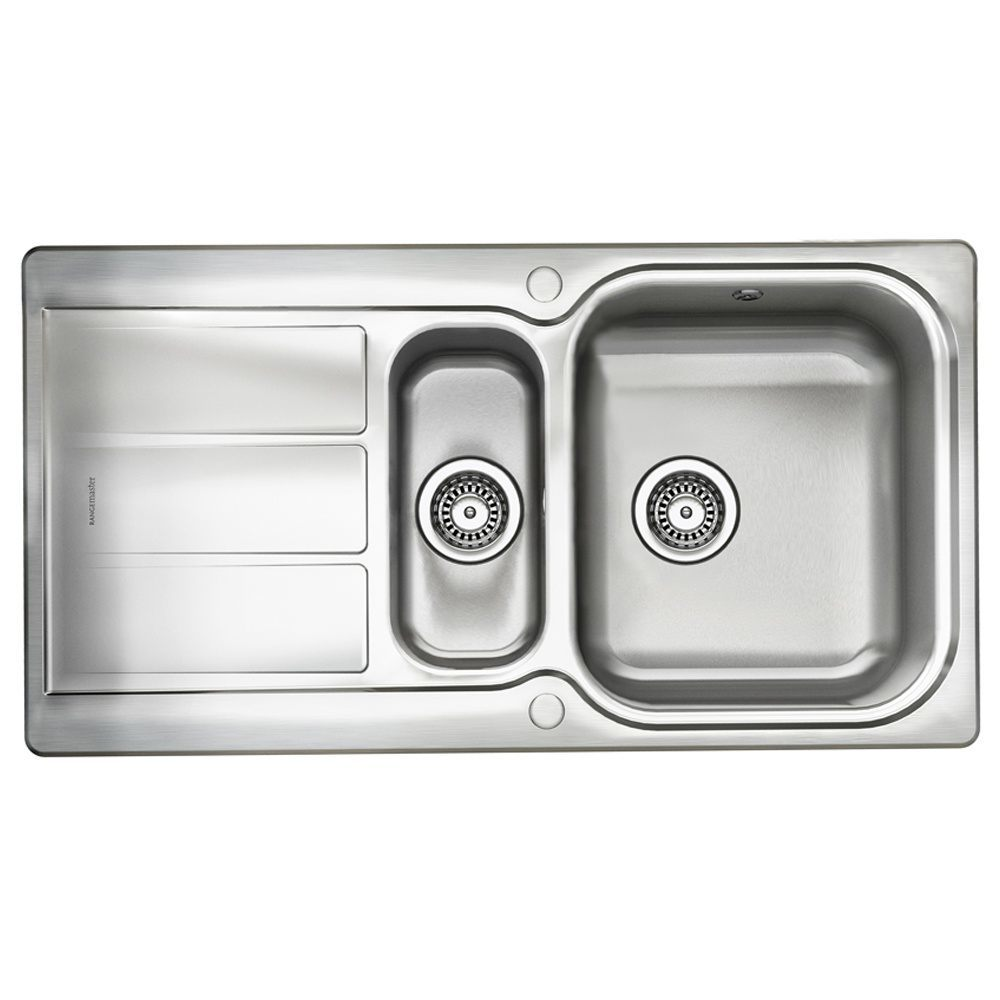 Rangemaster Glendale 1.5 Bowl Stainless Steel Kitchen Sink ...