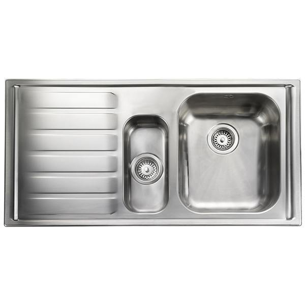 Rangemaster Manhattan 1.5 Bowl Stainless Steel Kitchen Sink - Left Handed