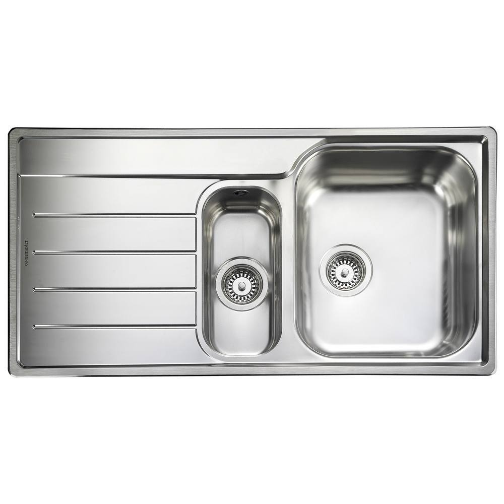 Rangemaster Oakland 1.5 Bowl Stainless Steel Kitchen Sink - Left Handed