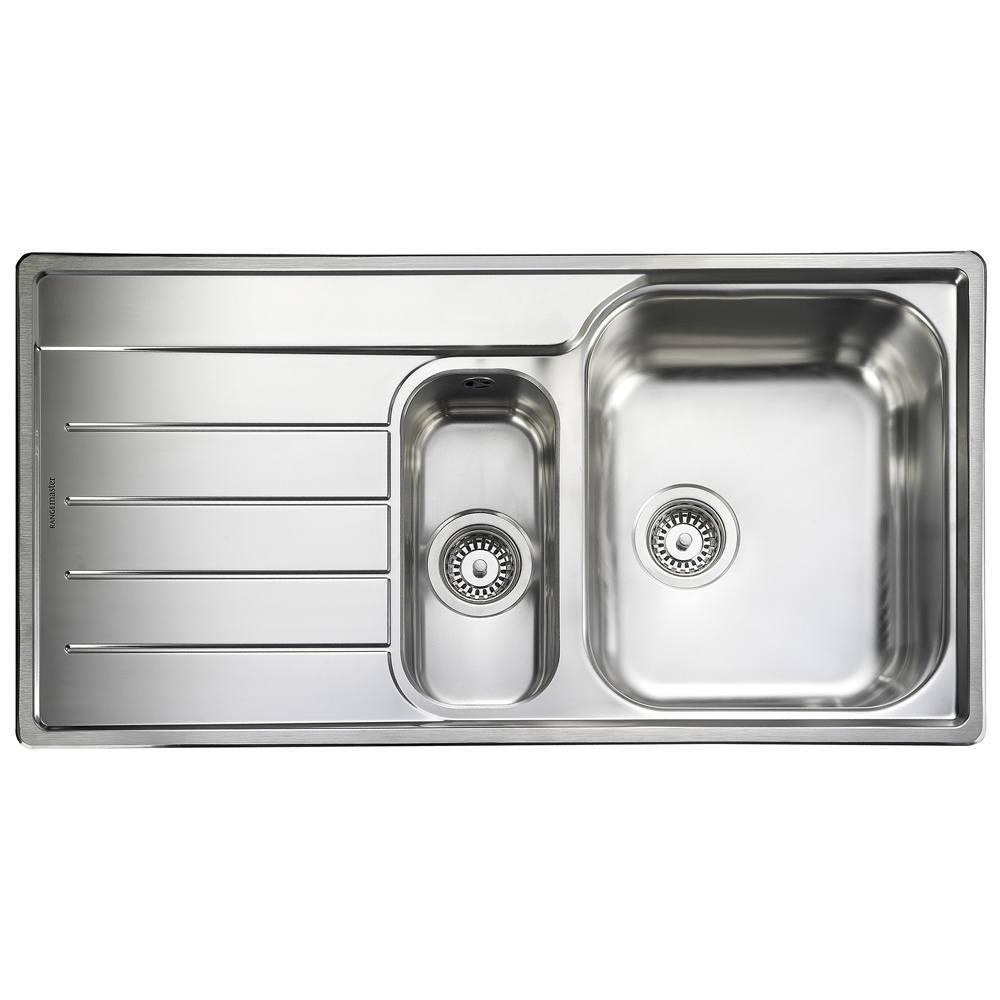 Rangemaster Oakland 1.5 Bowl Stainless Steel Kitchen Sink - Left ...