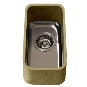 Apollo Slab Tech U853 Half Bowl Urban Sink