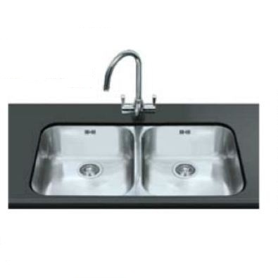 Smeg Alba UM4545 2.0 Bowl Stainless Steel Undermount Kitchen Sink