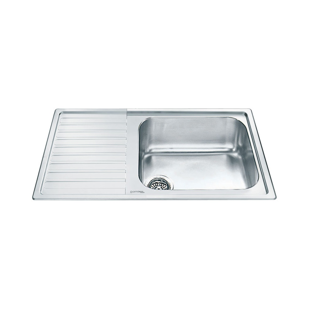 Smeg Alba 1.0 Bowl Stainless Steel Kitchen Sink - Left Handed