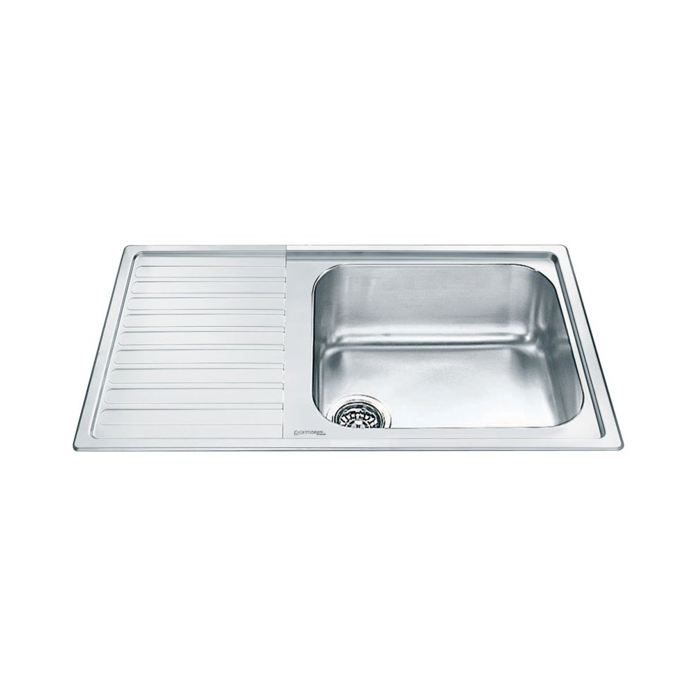No.2 Best Selling Product In This Category: Smeg Alba 1.0 Bowl Stainless Steel Kitchen Sink - Left Handed
