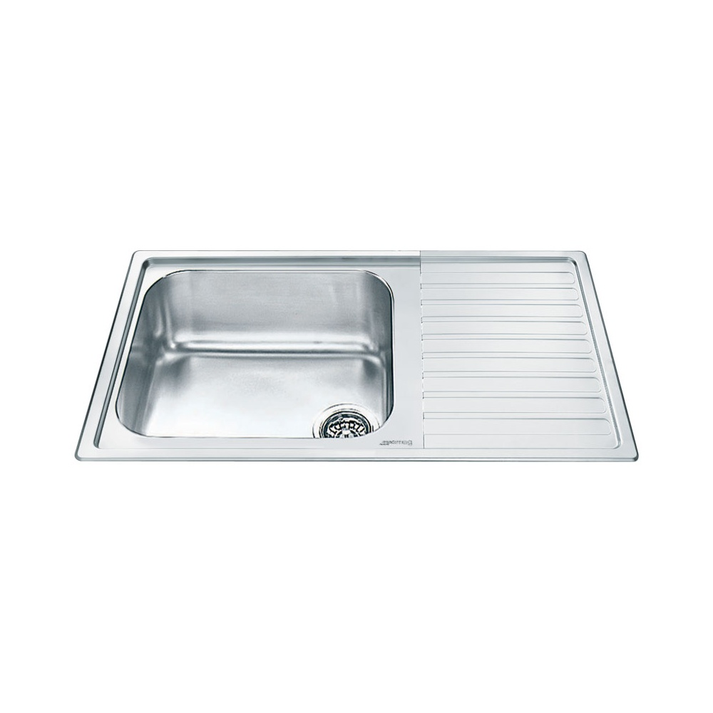 Smeg Alba 1.0 Bowl Stainless Steel Kitchen Sink - Right Handed